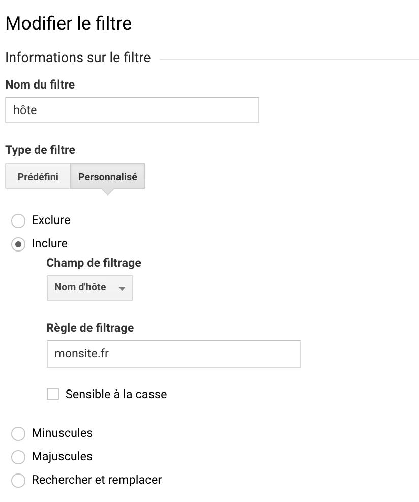 filtre ghost spam nom d'hôte Google Analytics