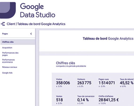 Apprendre Google data Studio